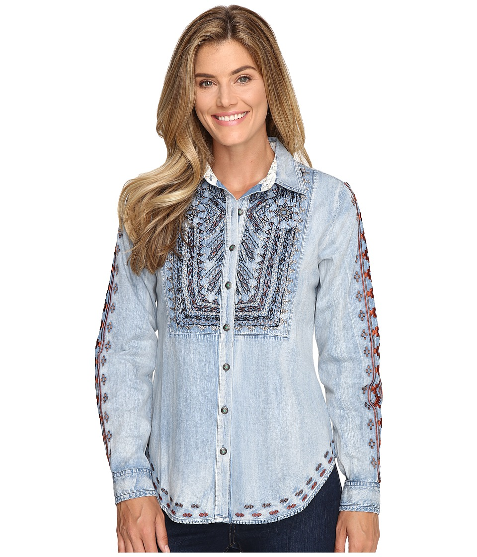 Tasha Polizzi - Lola Shirt (Washed Denim) Women's Clothing