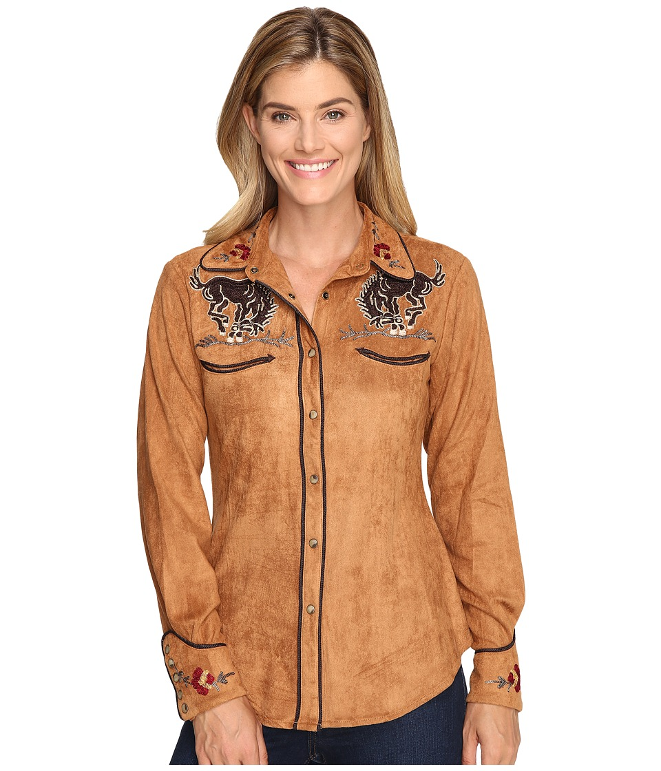 Tasha Polizzi - Bronco Shirt (Camel) Women's Clothing