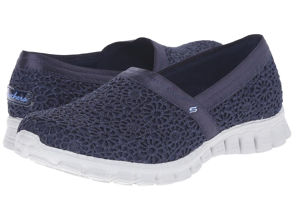 SKECHERS - EZ Flex 2 - Make Believe (Navy) Women's Slip on Shoes