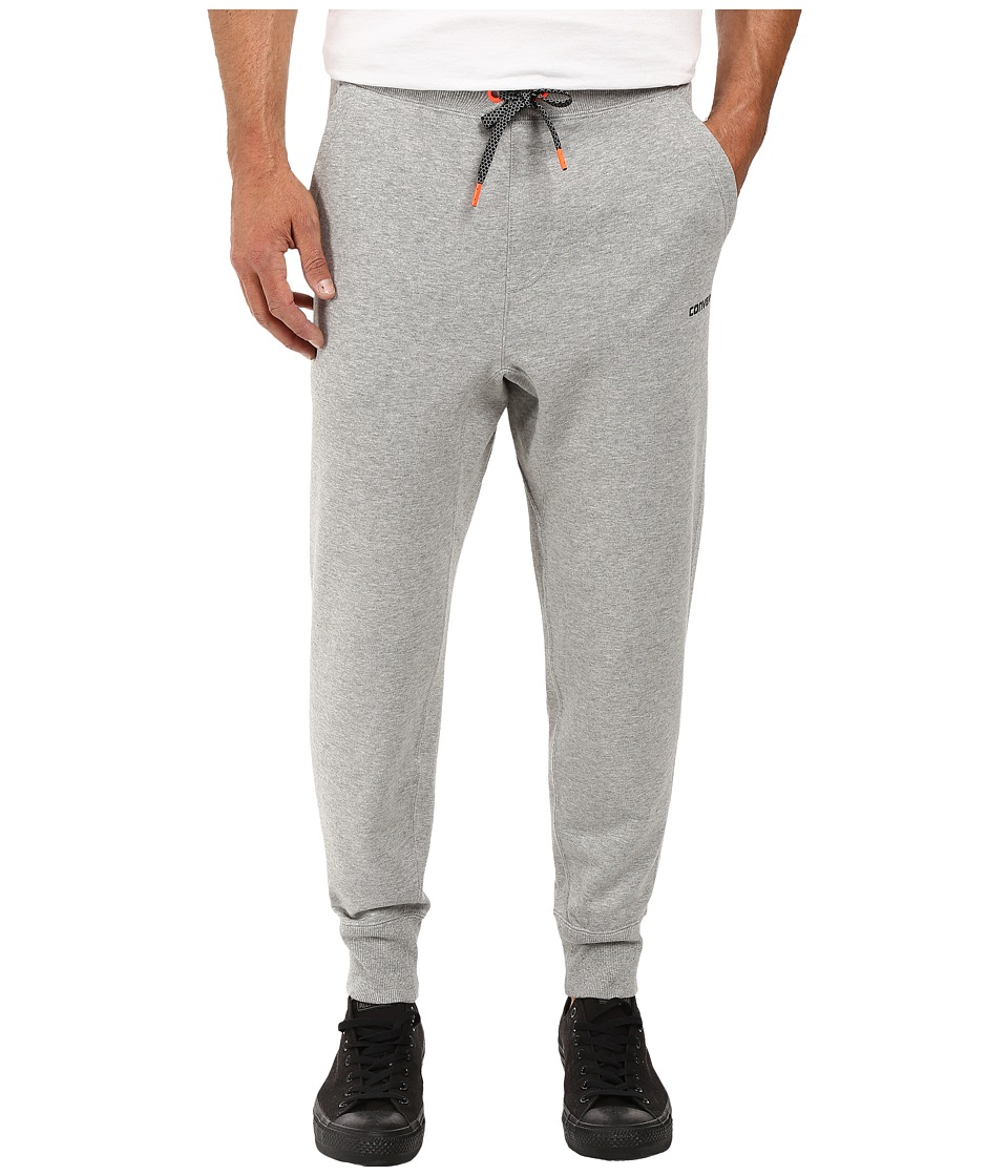 Converse - Reflective Details Knit-Fleece Pants (Vintage Grey Heather) Men's Casual Pants