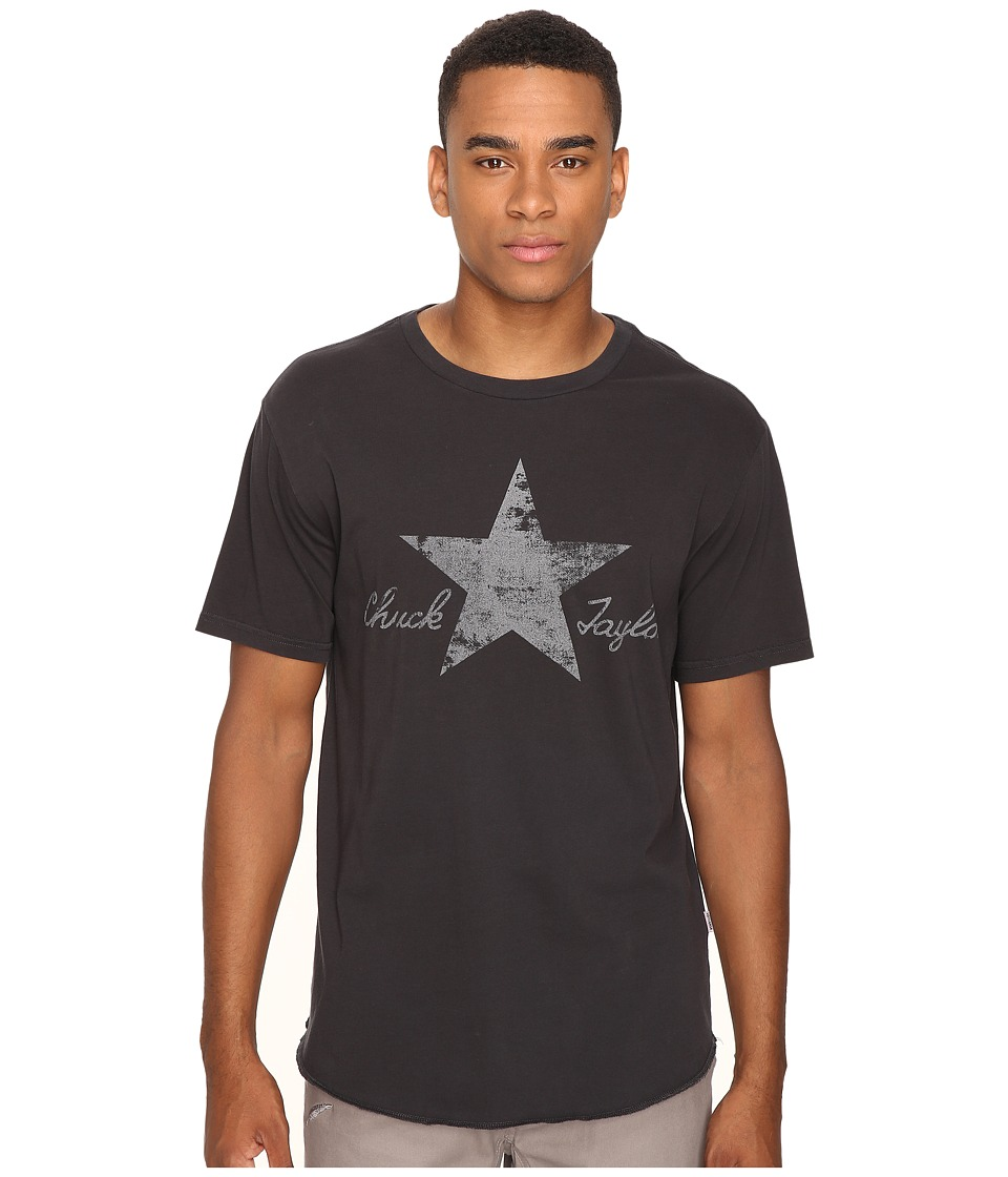 Converse - Washed Reflective Short Sleeve Tee (Phantom) Men's T Shirt