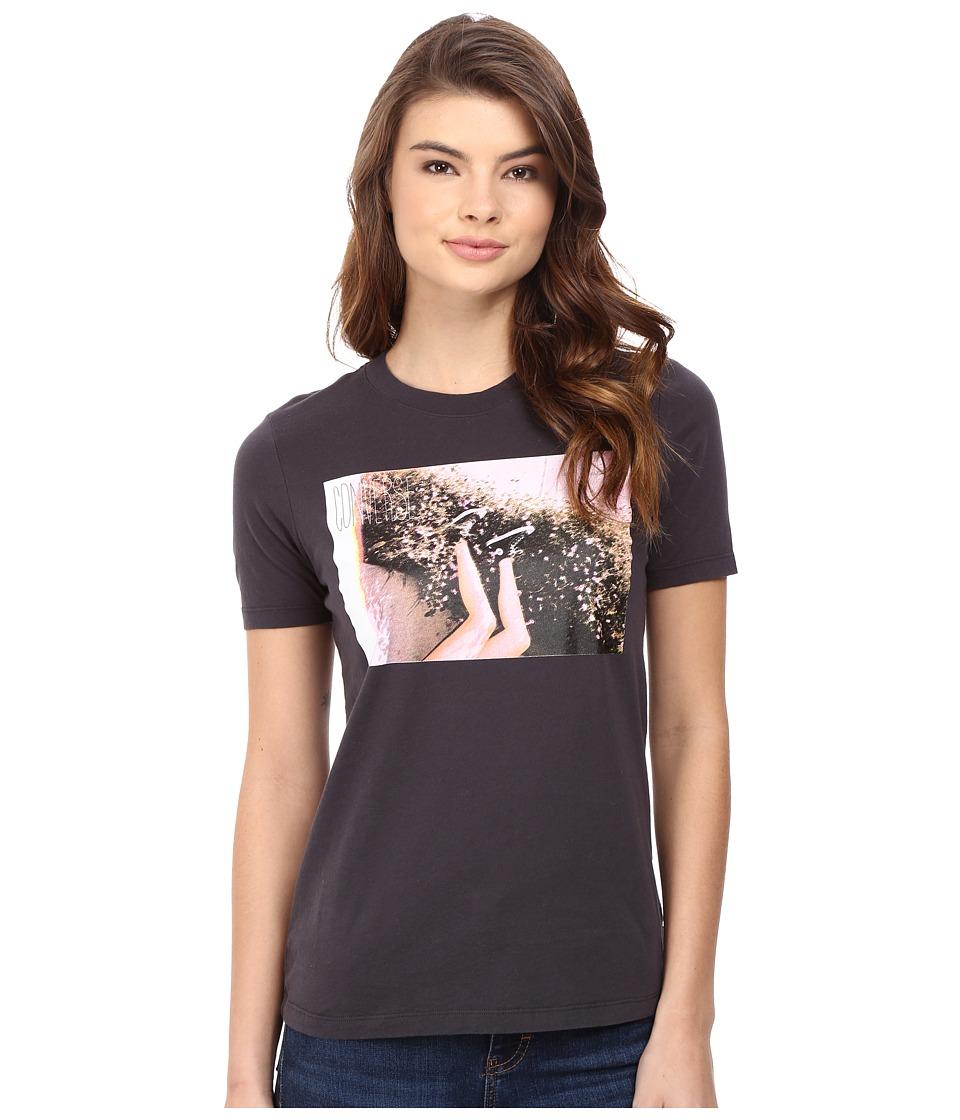 Converse - Chucks Flowers Short Sleeve Crew Tee (Phantom) Women's T Shirt
