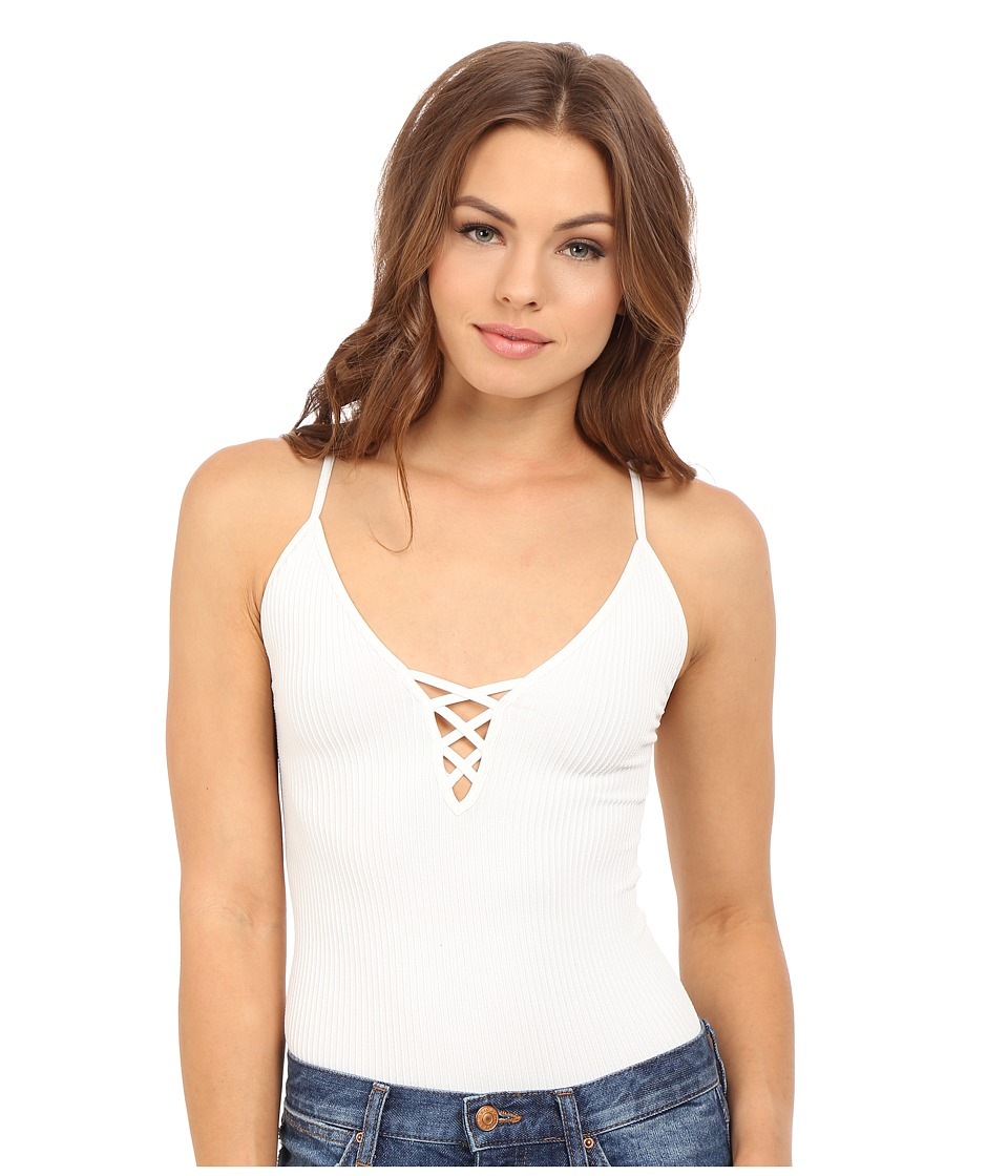 Free People - The Cross Fire Lace-Up Cami (Ivory) Women's Sleeveless