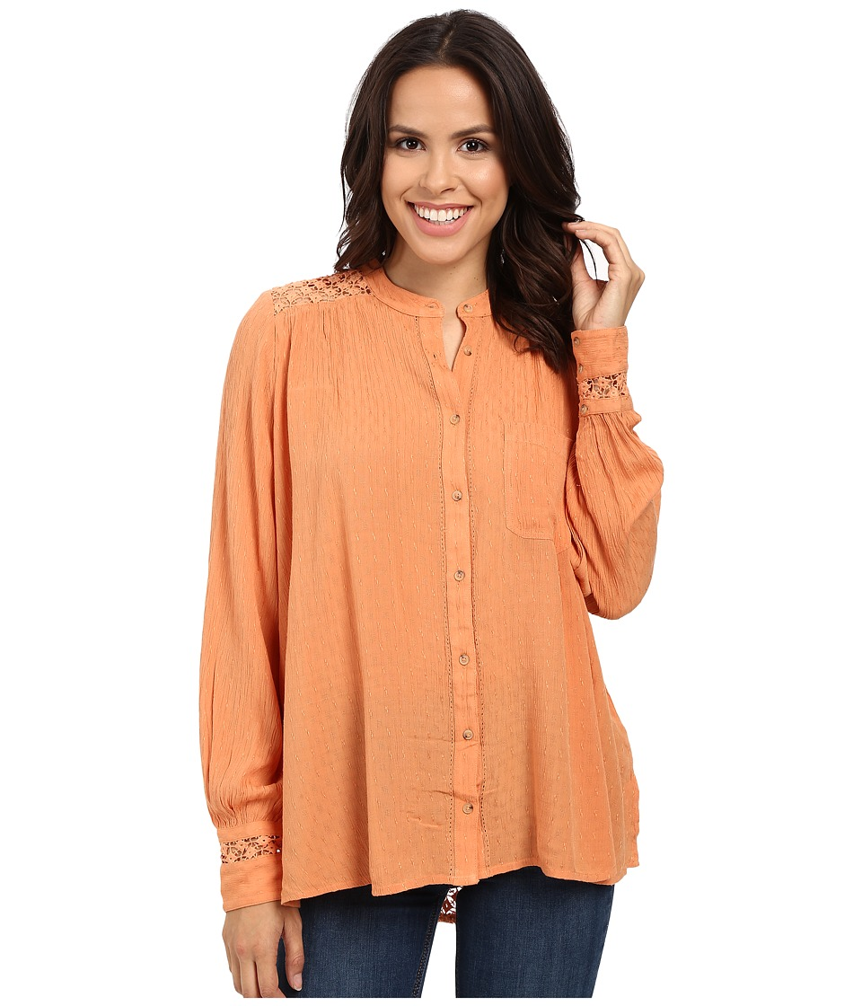 Free People - The Best Button Down (Peach) Women's Clothing