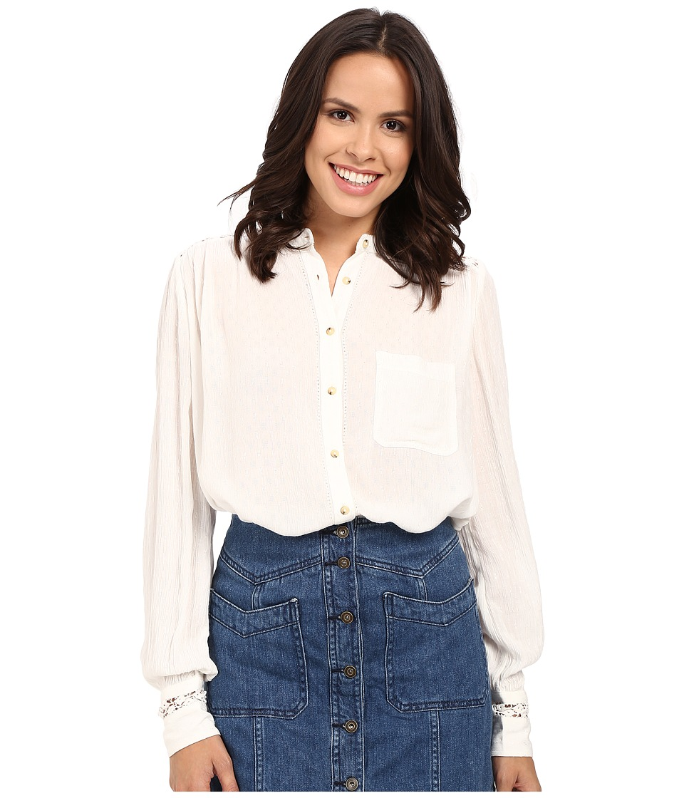 Free People - The Best Button Down (Ivory) Women's Clothing