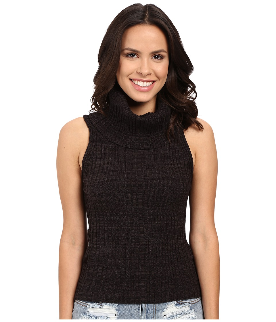 Free People - Carly Cowl Solid Sweater (Black) Women's Sweater