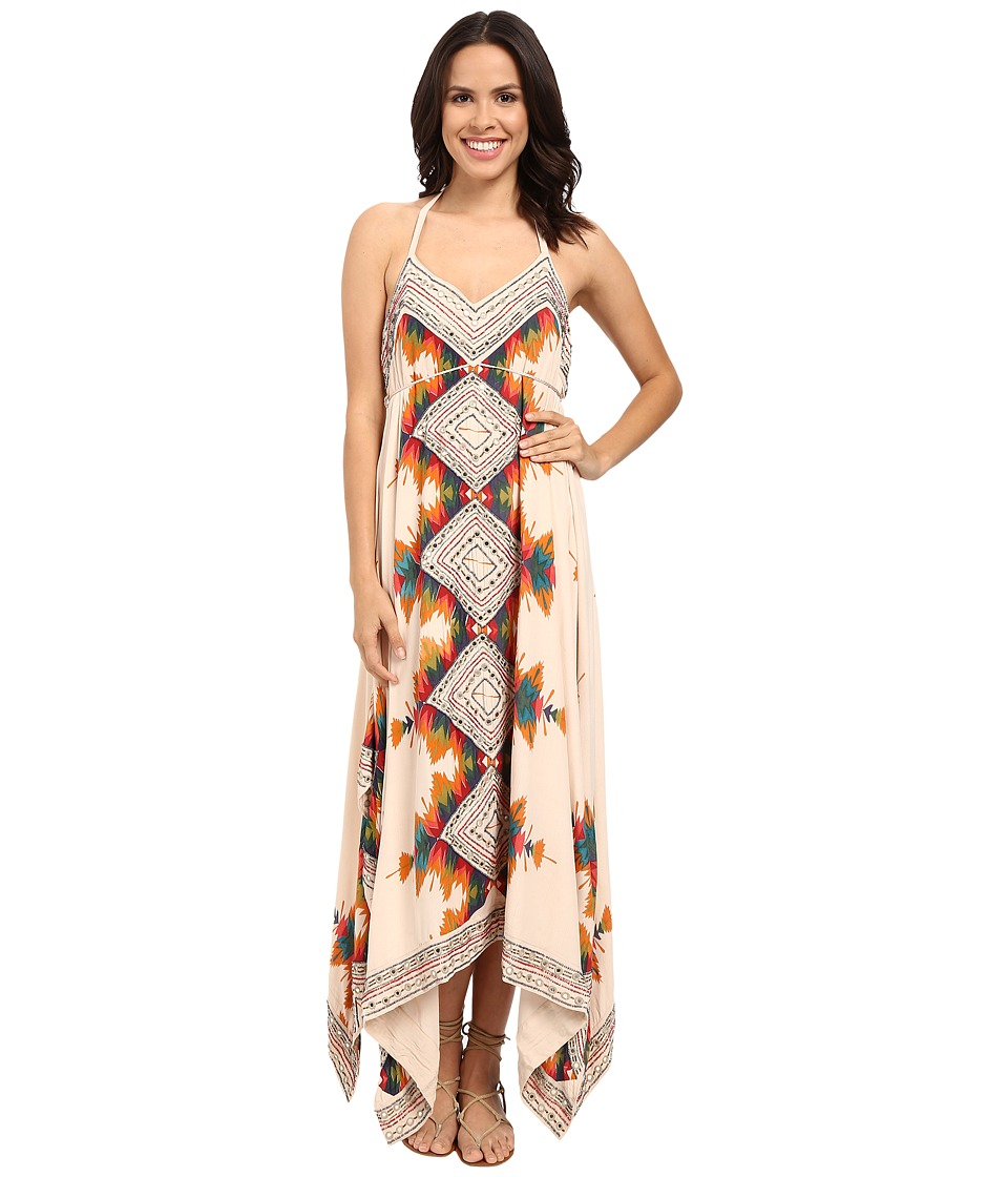Free People - Party Printed Ibiza Halter Dress (Neutral Combo) Women's Dress