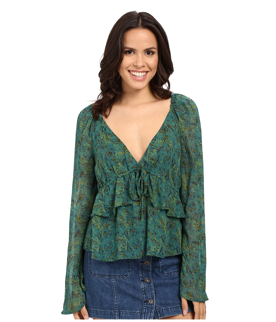Free People - Uptown Bell Sleeve Top (Green) Women's Clothing