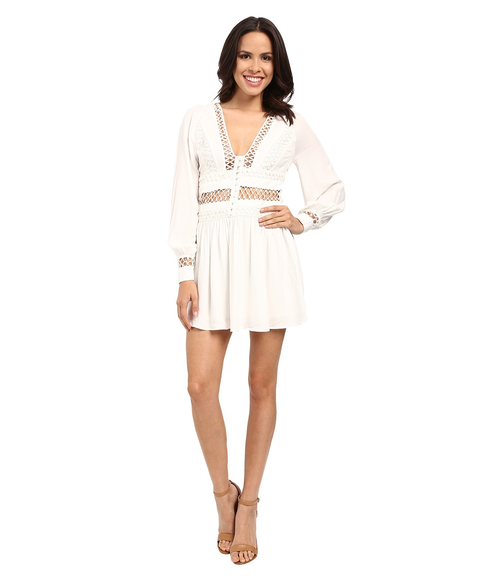 Free People - I Think I Love You Mini Dress (Ivory) Women's Dress