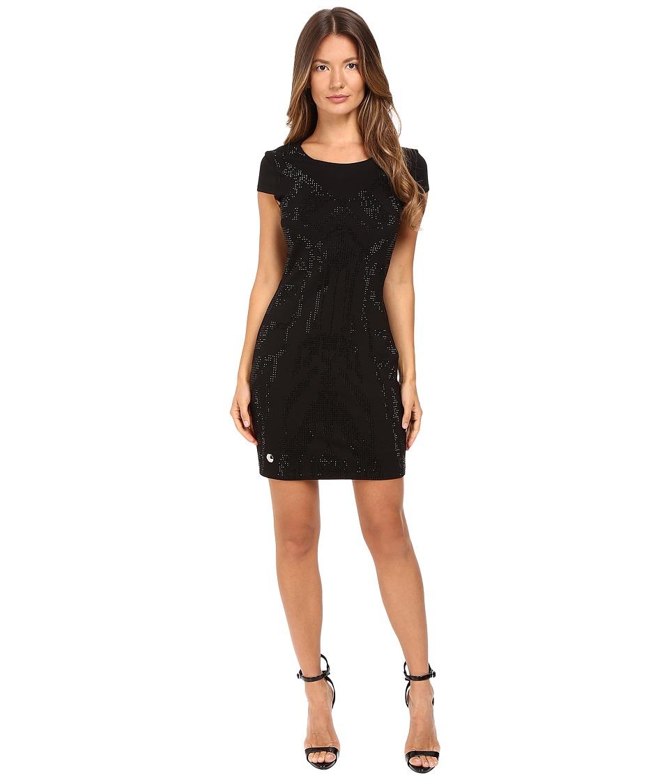 Philipp Plein Super Geometric Dress (Black) Women