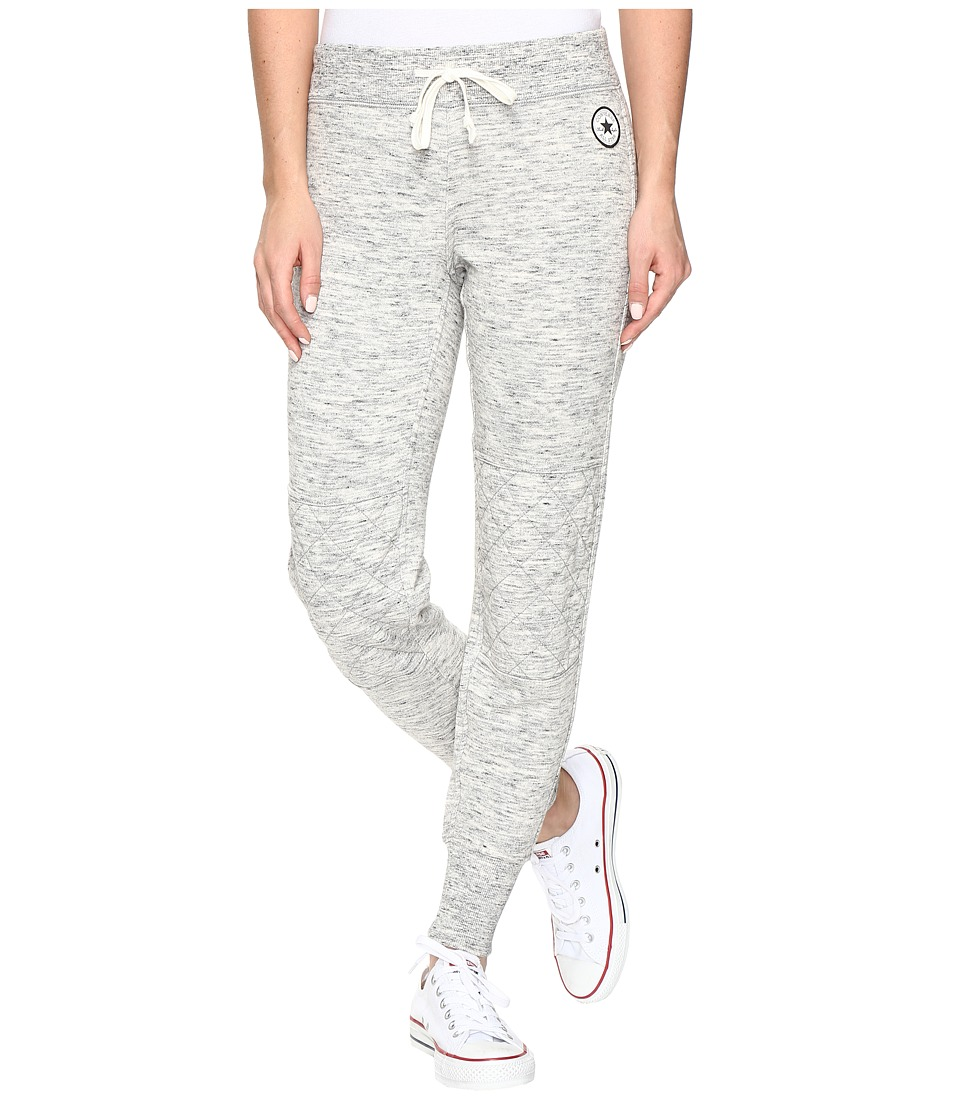 Converse - Quilted Fleece Pants (Snow Heather) Women's Casual Pants