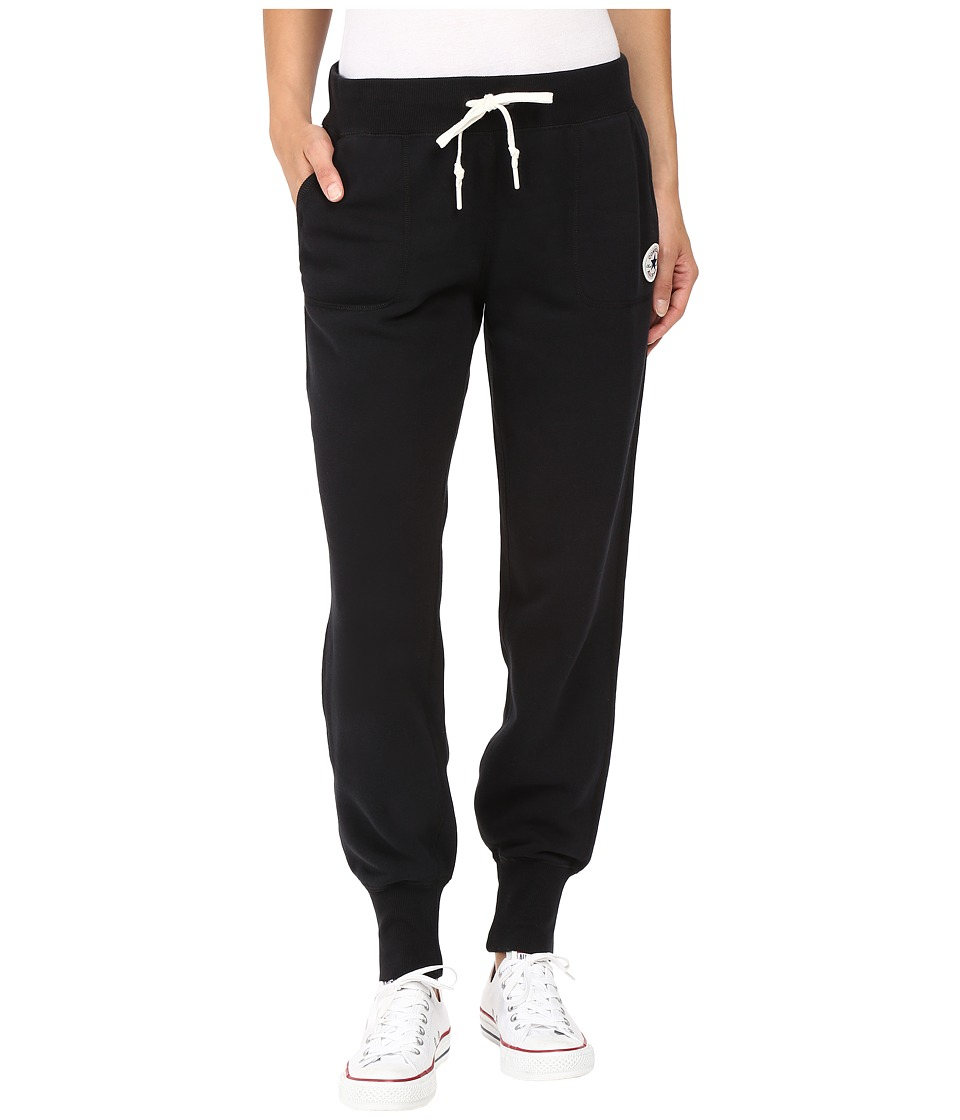 Converse - Core Signature Fleece Pants (Black) Women's Casual Pants