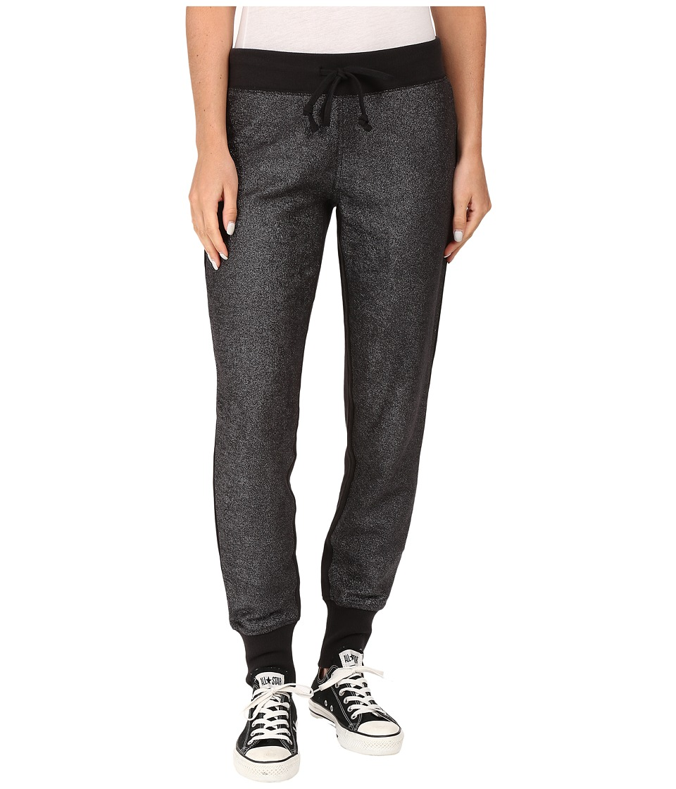 Converse - Metallic Jogger Pants (Black) Women's Casual Pants