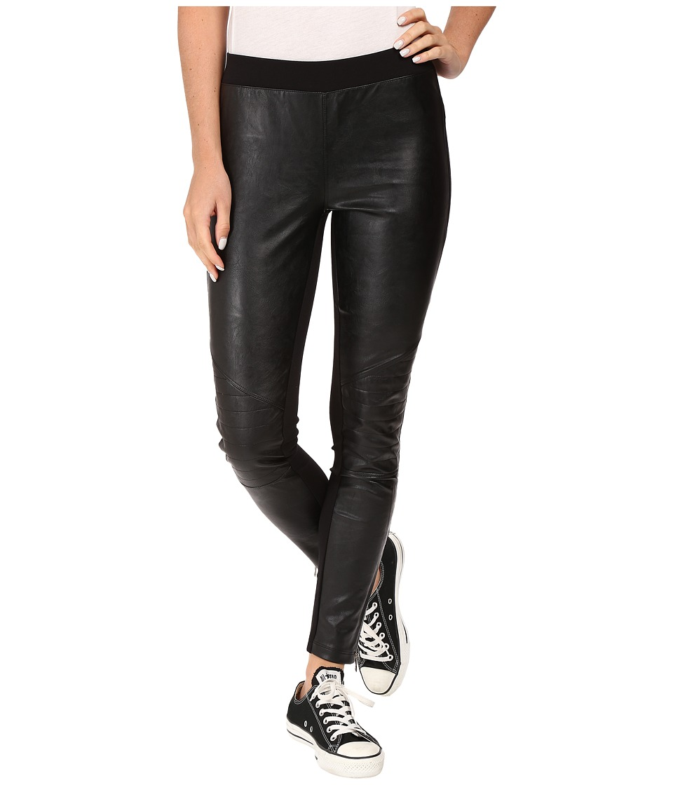 Converse - Ponte PU Leggings (Black) Women's Casual Pants