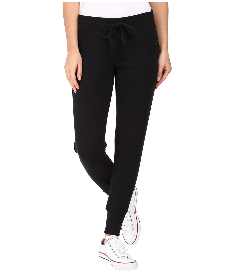 Converse - Embossed Core Patch Fleece Pants (Black) Women's Casual Pants
