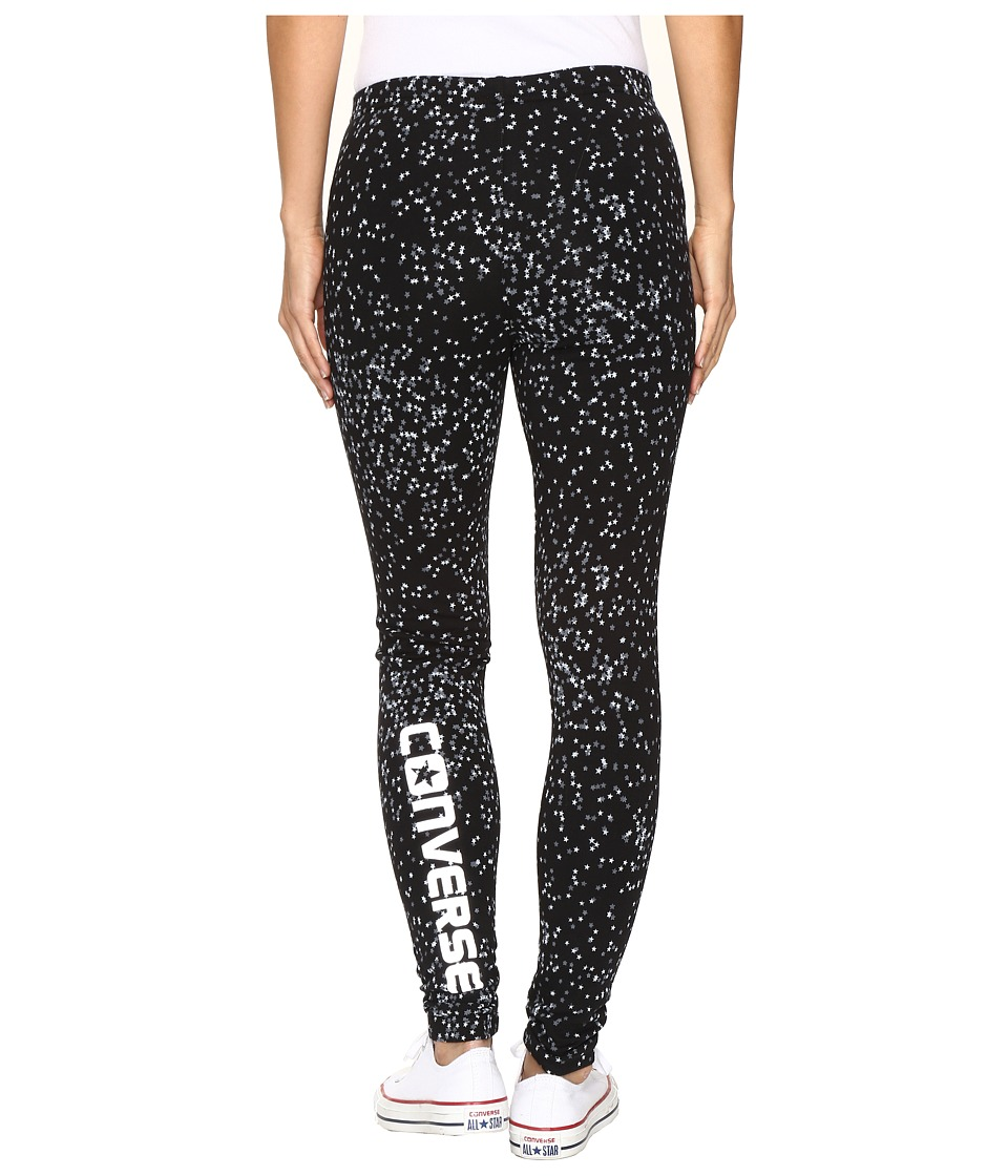 Converse - Aop Winter Leggings (Black Star Multi) Women's Casual Pants