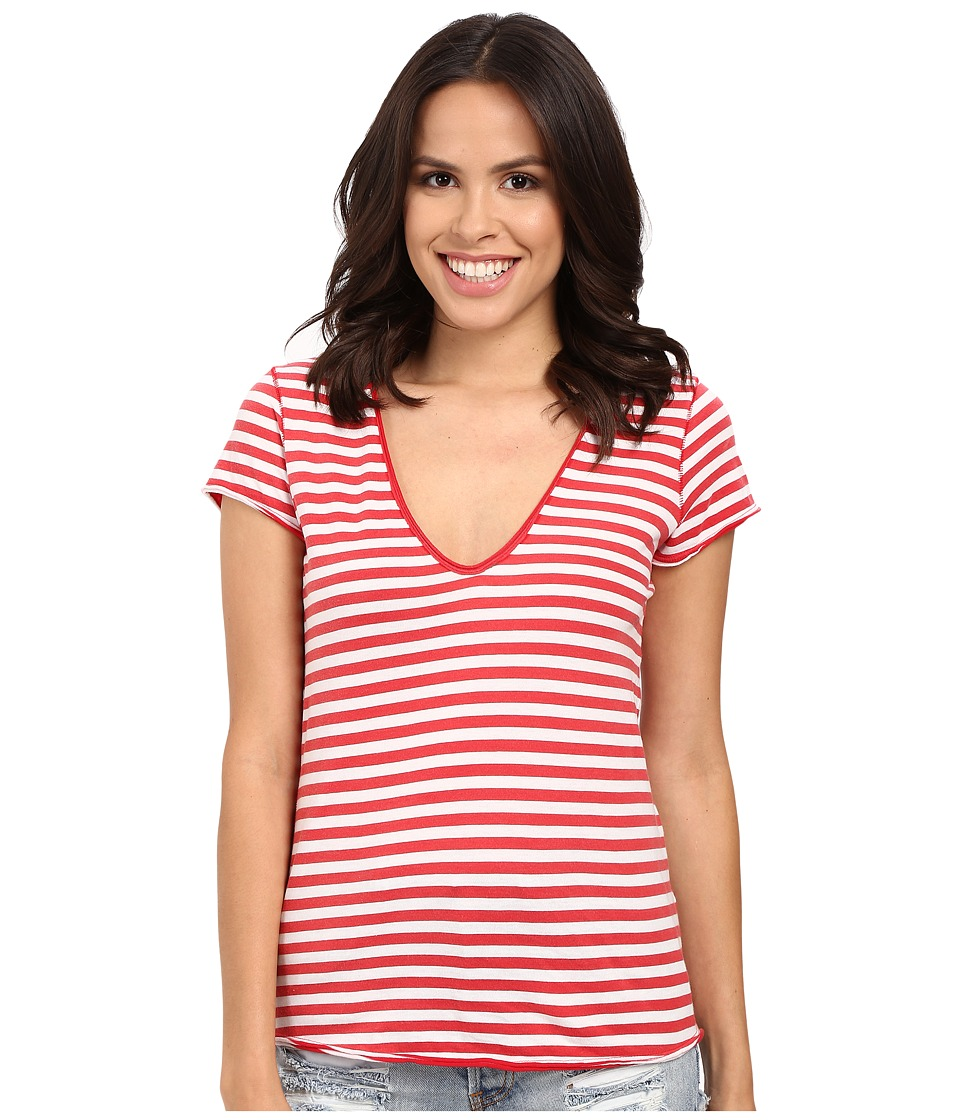 Etounes Free People Cotton Linen Rib After Party Tee