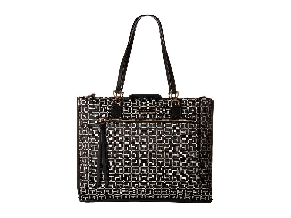 Tommy Hilfiger - Naomi - Tote (Black/White) Tote Handbags