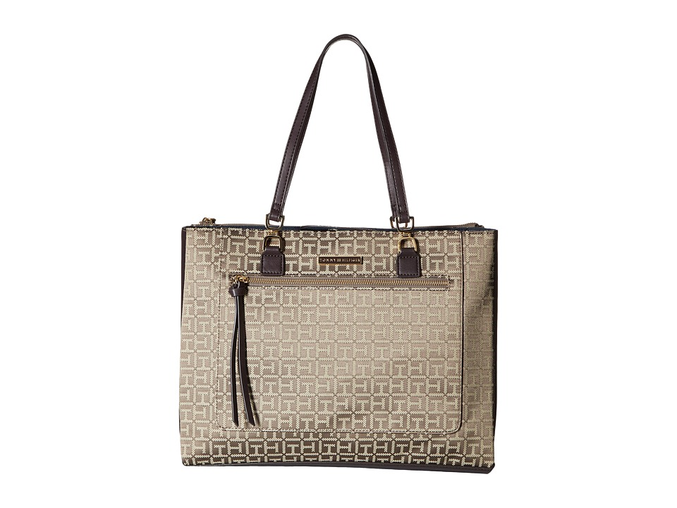 Tommy Hilfiger - Naomi - Tote (Tan/Dark Chocolate) Tote Handbags
