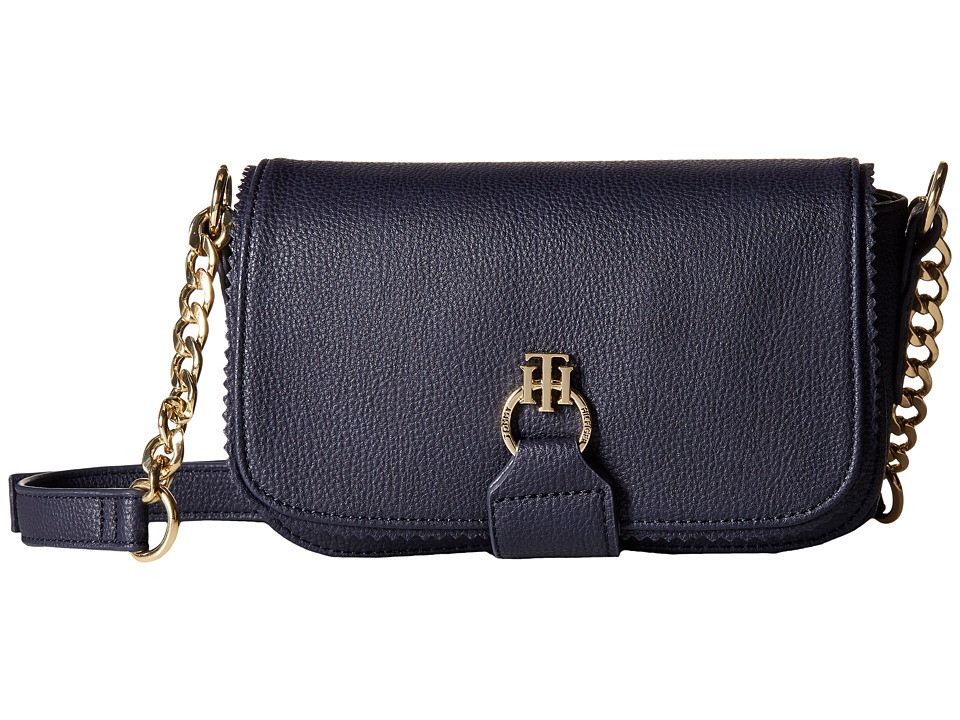 Tommy Hilfiger - Claire - Small Flap Crossbody (Navy) Cross Body Handbags