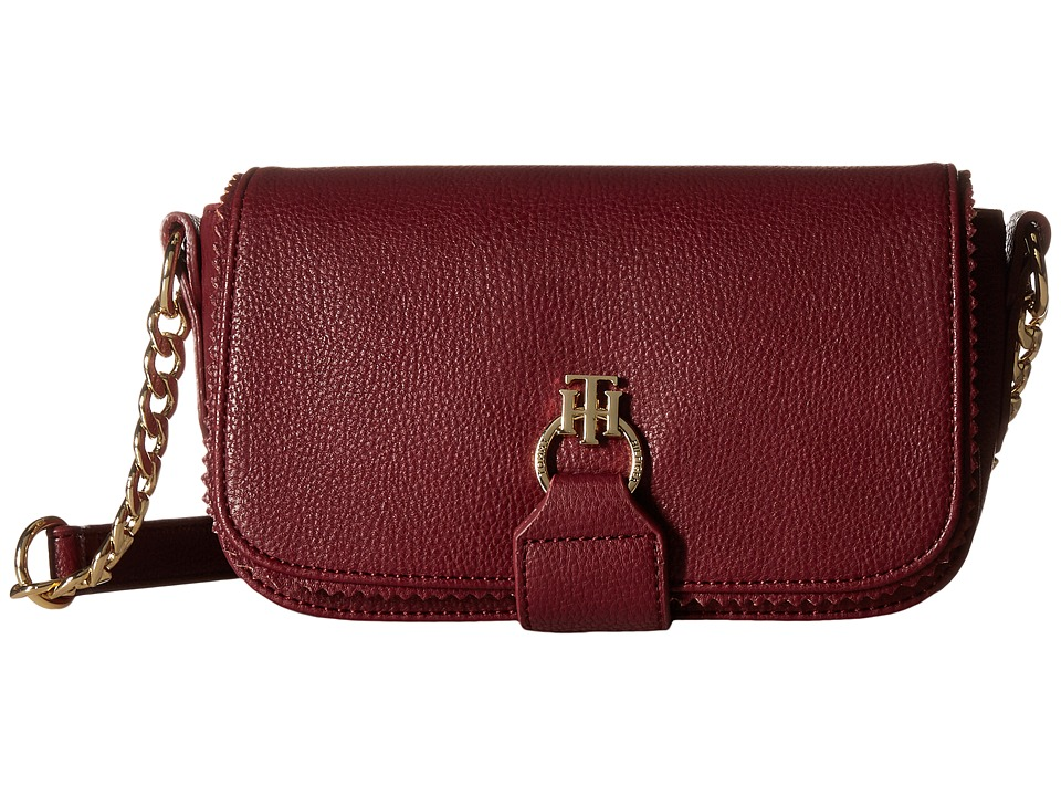 Tommy Hilfiger - Claire - Small Flap Crossbody (Cabernet) Cross Body Handbags