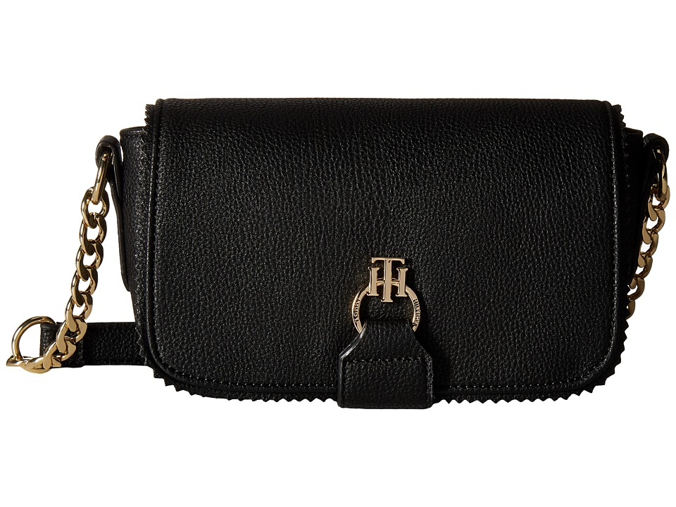Tommy Hilfiger - Claire - Small Flap Crossbody (Black) Cross Body Handbags