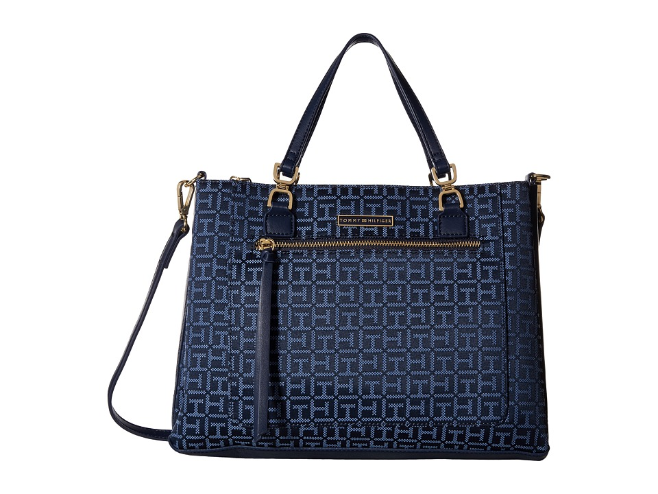 Tommy Hilfiger - Naomi - Convertible Shopper (Navy/Lapis) Convertible Handbags