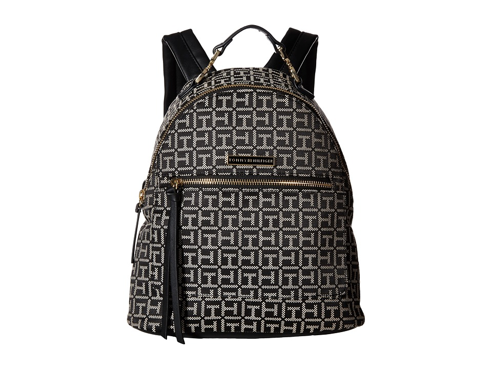 Tommy Hilfiger - Naomi - Backpack (Black/White) Backpack Bags