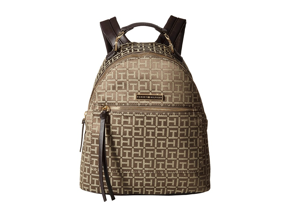 Tommy Hilfiger - Naomi - Backpack (Tan/Dark Chocolate) Backpack Bags