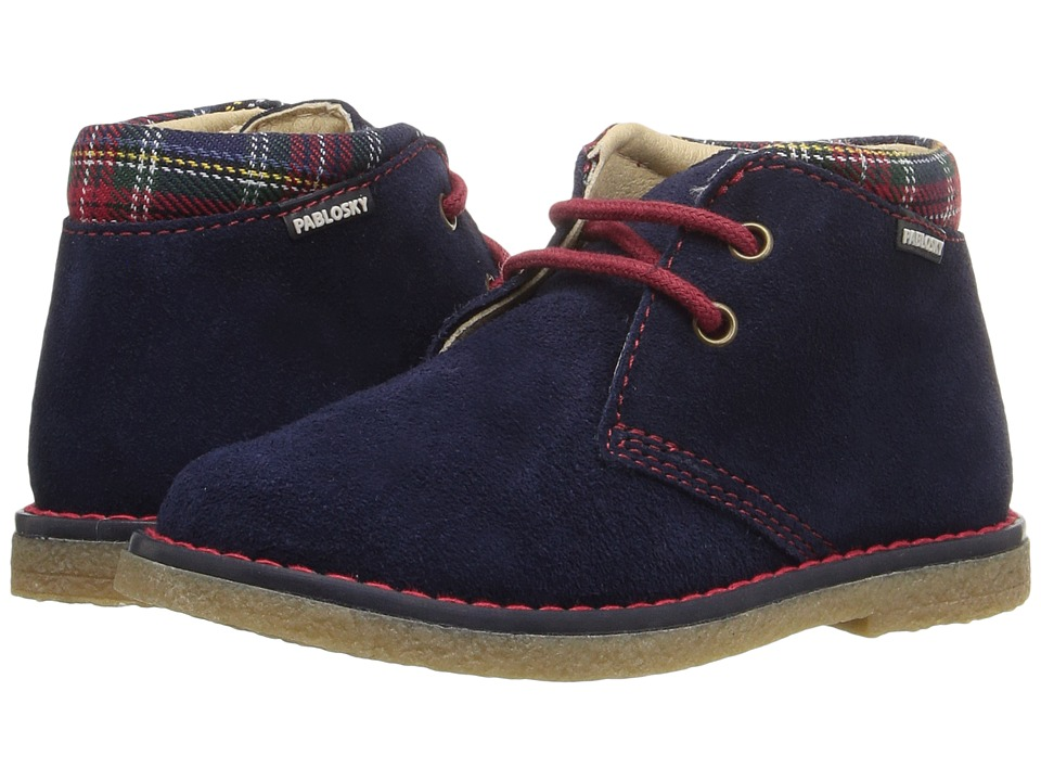 Pablosky Kids - 5742 (Toddler/Little Kid) (Navy Suede) Boy's Shoes