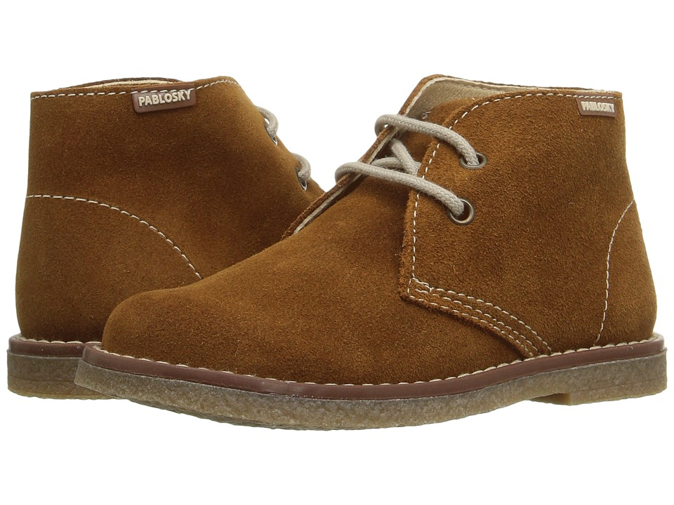 Pablosky Kids - 5741 (Toddler/Little Kid) (Luggage Suede) Boy's Shoes