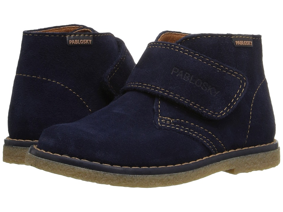 Pablosky Kids - 5743 (Toddler/Little Kid) (Navy Suede) Boy's Shoes