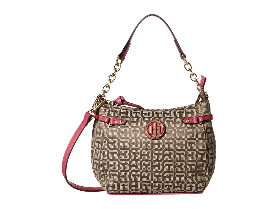 Tommy Hilfiger - Sadie - Crossbody (Tan/Dark Chocolate) Tote Handbags