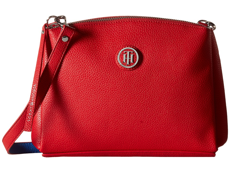 Tommy Hilfiger - Mara - East/West Crossbody (Racing Red/Bright Midnight) Cross Body Handbags