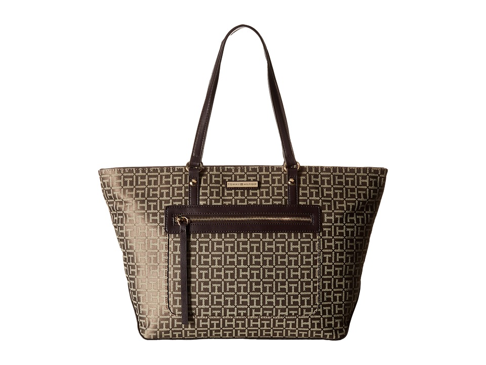 Tommy Hilfiger - Gabriella - Tote (Tan/Dark Chocolate) Tote Handbags