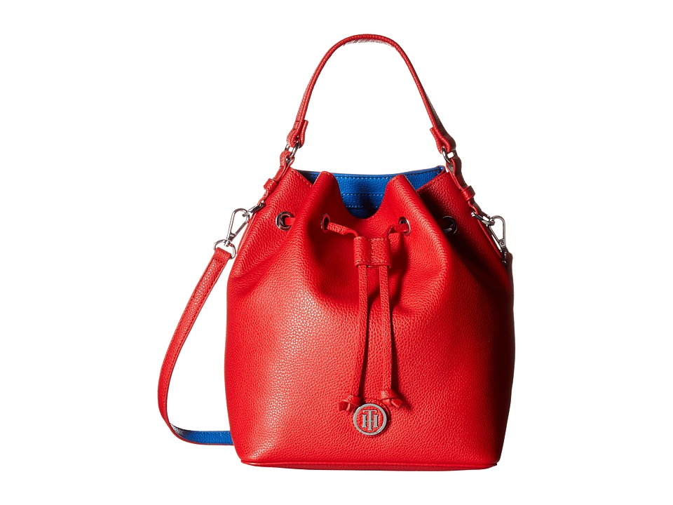 Tommy Hilfiger - Mara - Drawstring Bucket (Racing Red/Bright Midnight) Handbags