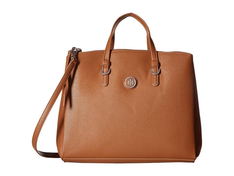Tommy Hilfiger - Mara Shopper Satchel Bag (Cognac/Navy) Handbags