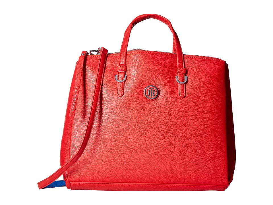 Tommy Hilfiger - Mara Shopper Satchel Bag (Racing Red/Bright Midnight) Handbags