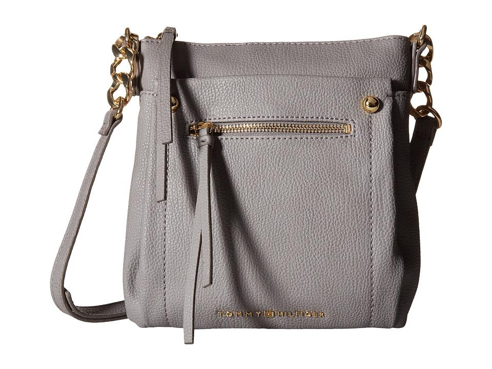 Tommy Hilfiger - Tessa - Flat Crossbody (Frost Gray) Cross Body Handbags