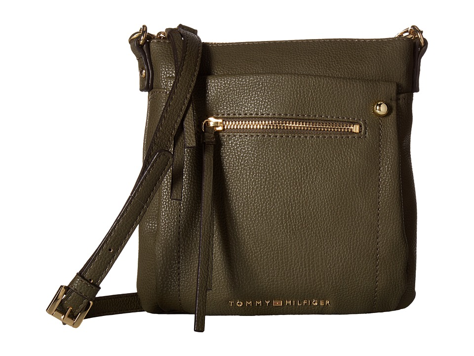 Tommy Hilfiger - Tessa - Flat Crossbody (Olive) Cross Body Handbags
