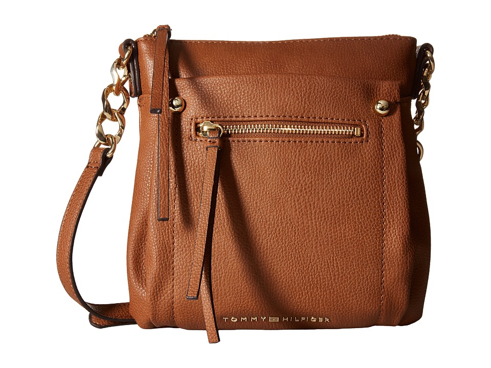 Tommy Hilfiger - Tessa - Flat Crossbody (Cognac) Cross Body Handbags