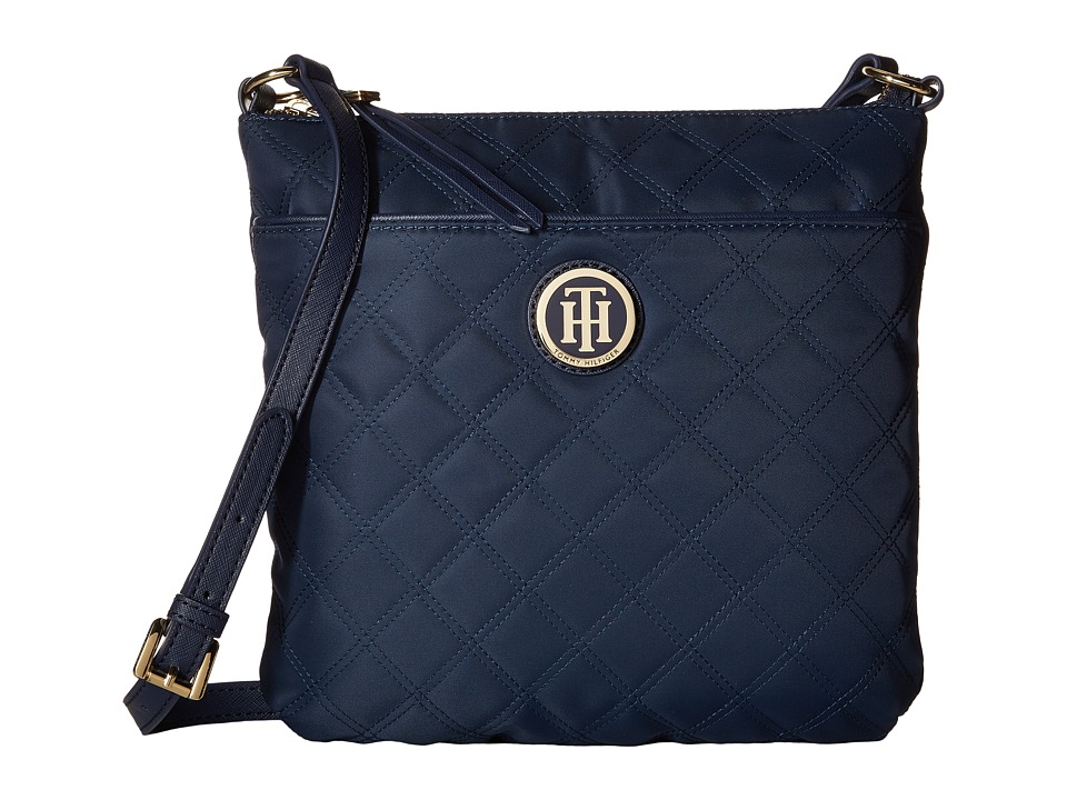 Tommy Hilfiger - TH Quilted - North/South Crossbody (Navy) Cross Body Handbags