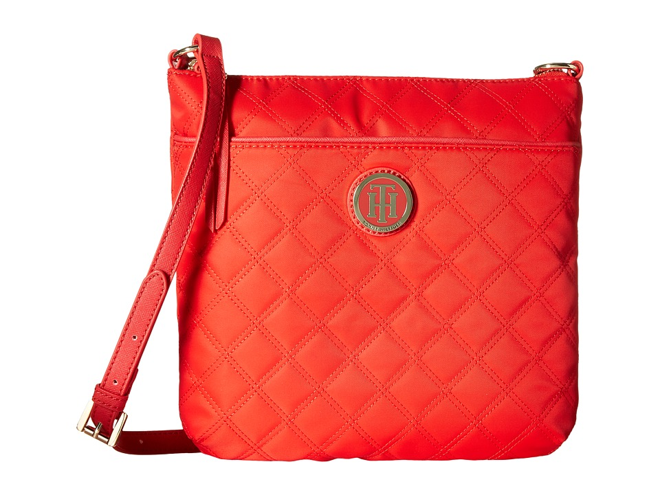 Tommy Hilfiger - TH Quilted - North/South Crossbody (Racing Red) Cross Body Handbags