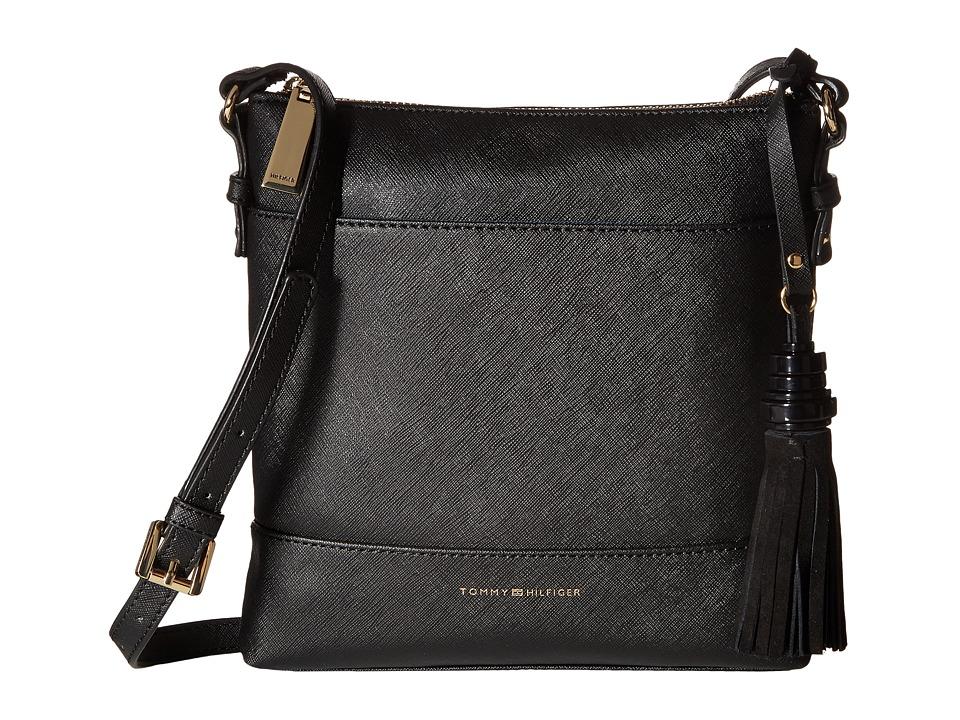 Tommy Hilfiger - Grace - North/South Crossbody (Black) Cross Body Handbags