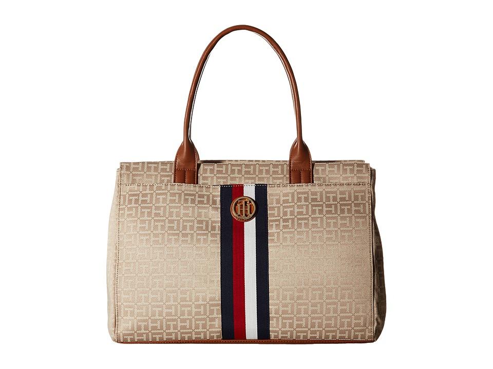 Tommy Hilfiger - Aria - Tote (Khaki Tonal) Tote Handbags
