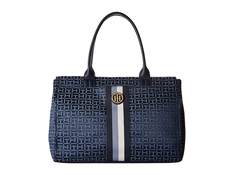 Tommy Hilfiger - Aria - Tote (Navy/Lapis) Tote Handbags