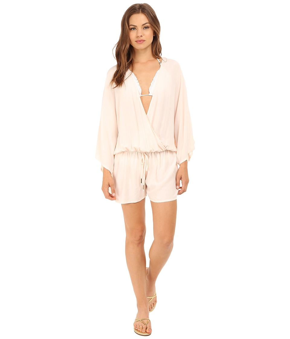 Vince Camuto - Milos Solids Romper w/ Draw String Waist Tie Cover-Up (Blush Balm) Women's Jumpsuit & Rompers One Piece