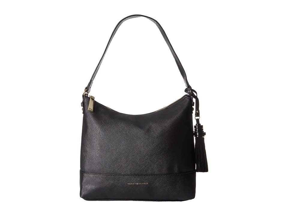 Tommy Hilfiger - Grace - Hobo (Black) Hobo Handbags