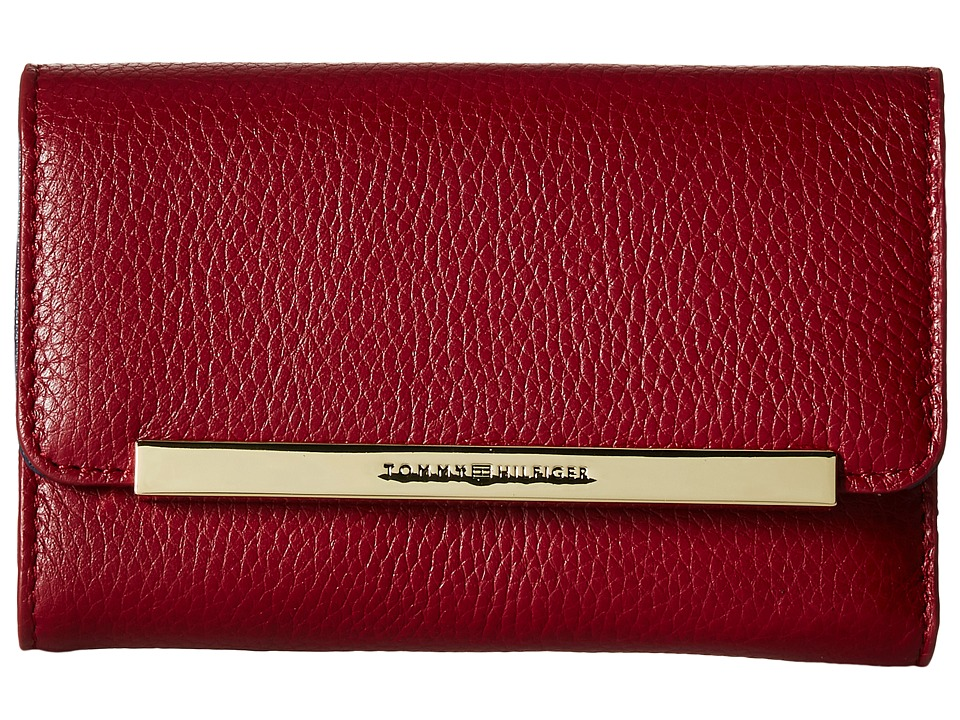 Tommy Hilfiger - TH Serif Signature - Medium Flap Wallet (Cabernet) Wallet Handbags