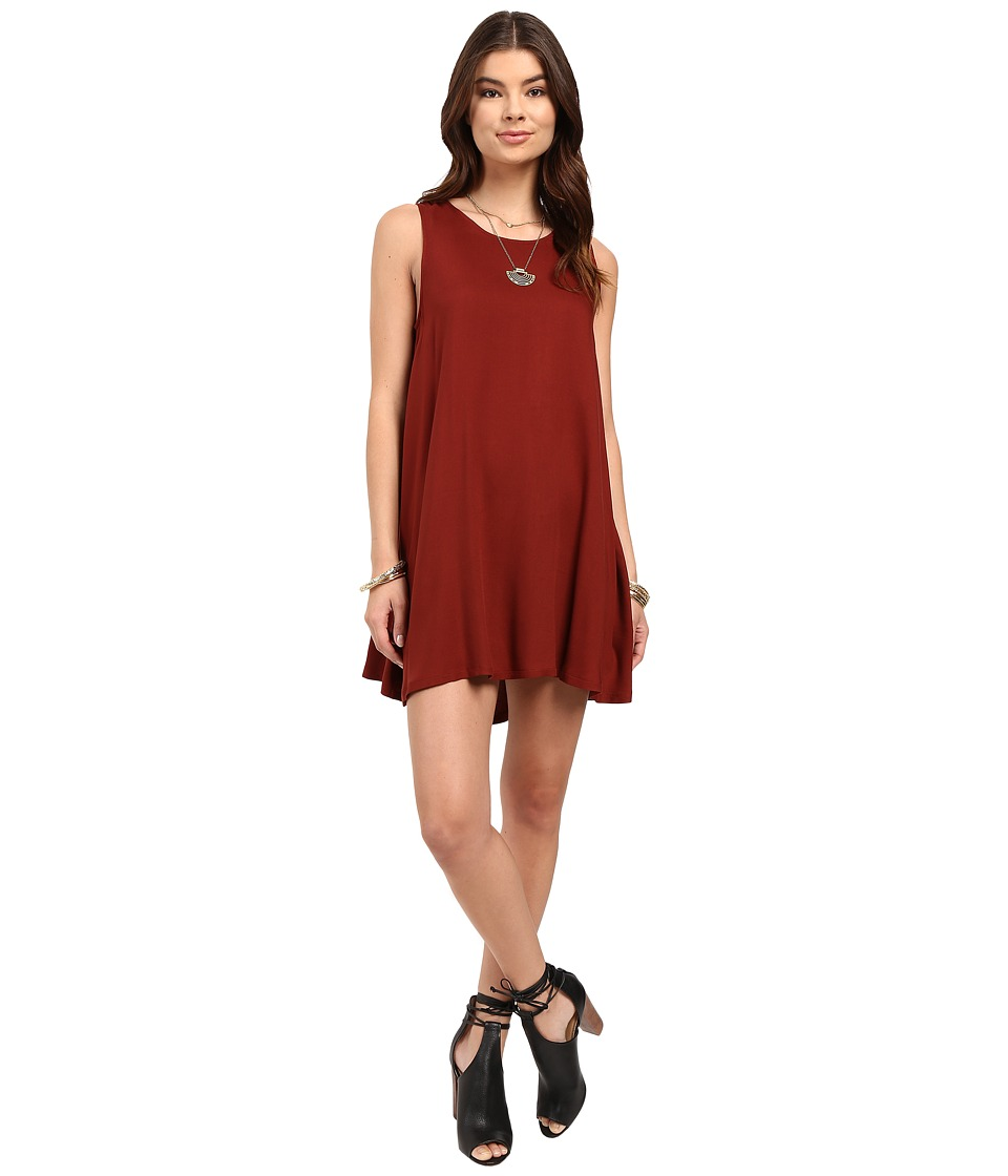 BB Dakota - Kenmore Dress (Brick) Women's Dress